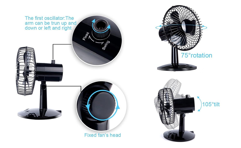 Maxah mini ventilateur de table stylé super silencieux petit ventilo