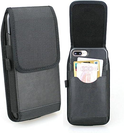 iPhone 8 Plus Étui de ceinture, iPhone 7 Plus Étui, iPhone 6 Plus Étui de ceinture, iPhone 6s Plus Ceinture Holster, Aubaddy vertical étui en nylon ...