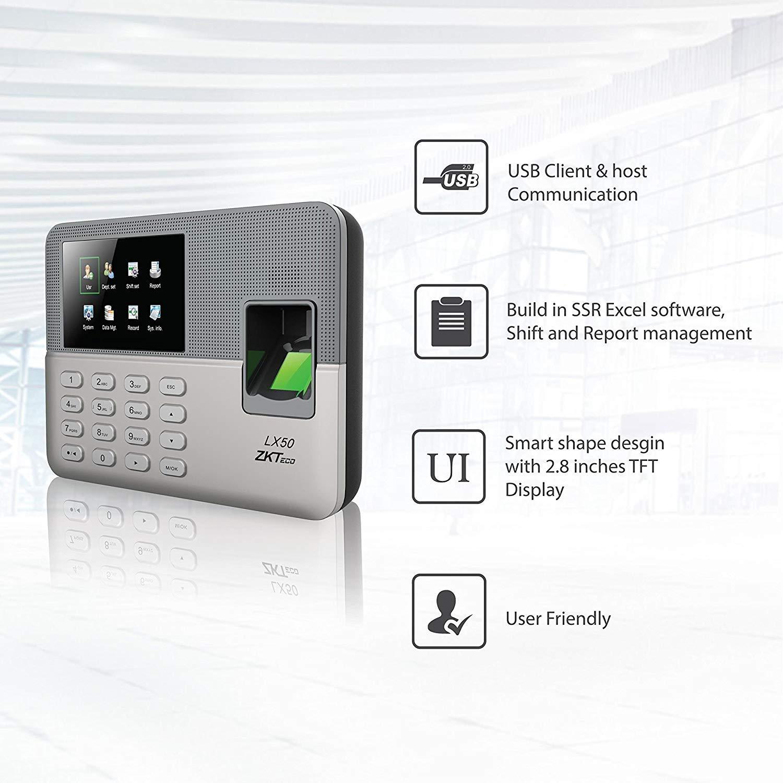ZKTeco USB Huella Digital biométrica Registrador de Reloj de Tiempo Asistencia Empleado Máquina de Lector de sacador electrónico Realand A-C071 2.8 TFT ...