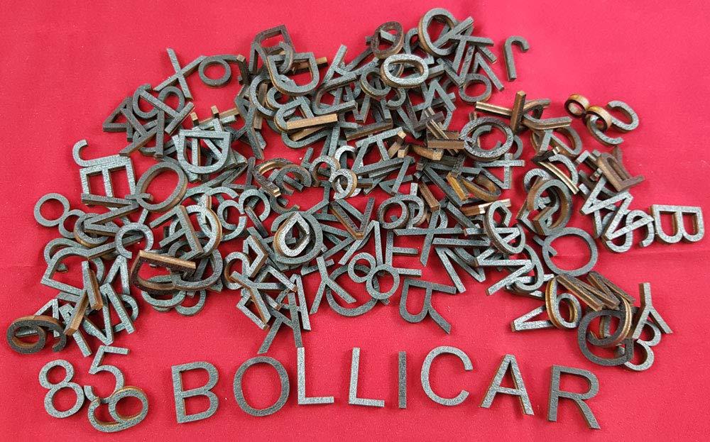 Bastellinchen Holzbuchstaben schwarz Multi Set 108 Teile 20mm BZ-BSG-20-005