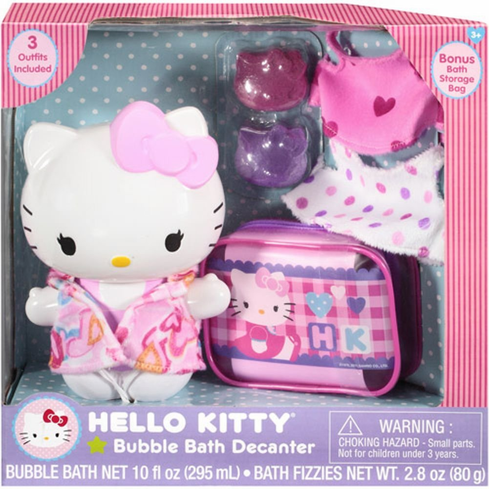 Amazoncom Hello Kitty Bubble Bath Decanter Bag Outfits Fizzies