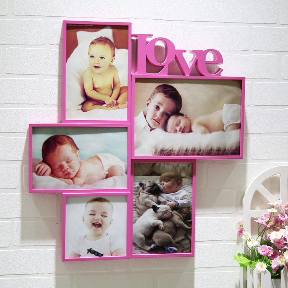 Photo Wall, European Style Piece Wall, Small Wall Decoration, Living Room Bedroom Creative Frame, Children's Room Frame ( Color : 1# )