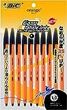 ビック 油性ボールペン オレンジ 1.0 黒 10本 OR10BLK10P