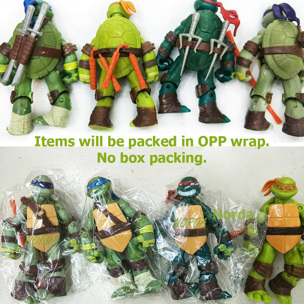 Amazon.com: Norda Turtles Superheroes figuras de acción ...
