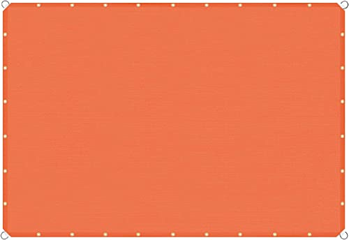 TANG Sunshades Depot 19'x28' Straight Side Sun Shade Sail 180 GSM Orange Patio Rectangle Shade Fabric UV Blocker Shelter Deck Dock Carport Driveway Pergola Cover Outdoor Backyard Deck 3 Year Warranty