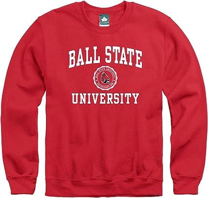Ivysport Crewneck Sweatshirt Cotton//Poly Blend Heritage Logo Grey NCAA Colleges and Universities
