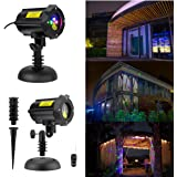 SROCKER Firefly Garden Laser Light Waterproof outdoor Christmas Projector laser Landscape Lights Moving Red Green Blue with RF Remote Control and Security Lock for Christmas Holloween Holiday Parties