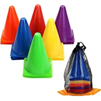Win SPORTS 7 Inch Plastic Traffic Cones,Sport Training Cone Set,Indoor Outdoor and Festive Events Agility Cones - Sports…