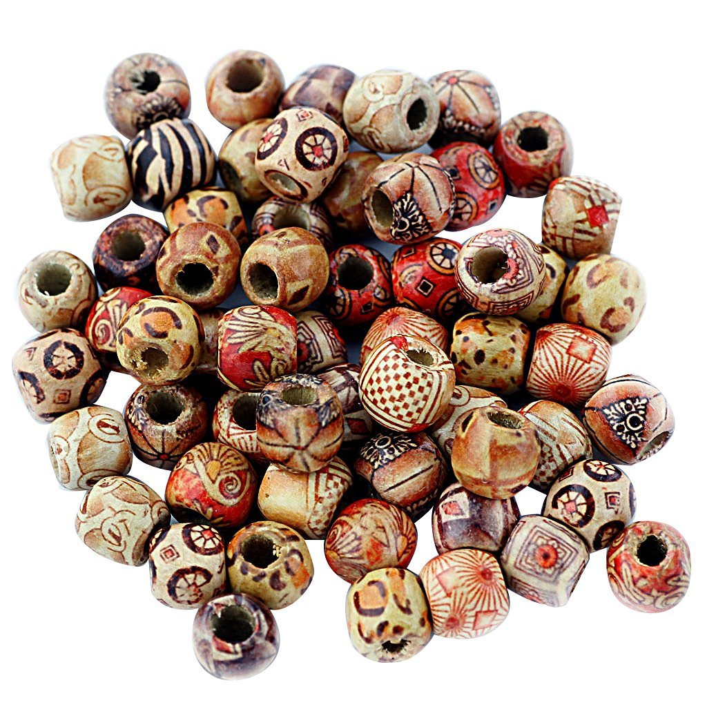COFCO 12mm printing large hole wood beads hand beads beads beads accessories accessories accessories