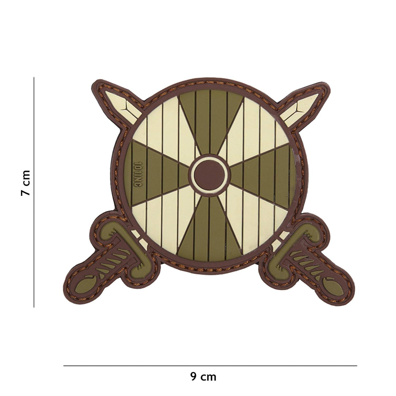 2 Schwerte gr/ün #17046 Softair Sniper PVC Patch Logo Klett inkl gegenseite zum aufn/ähen Paintball Airsoft Abzeichen Fun Outdoor Freizeit Tactical Attack Viking Schild