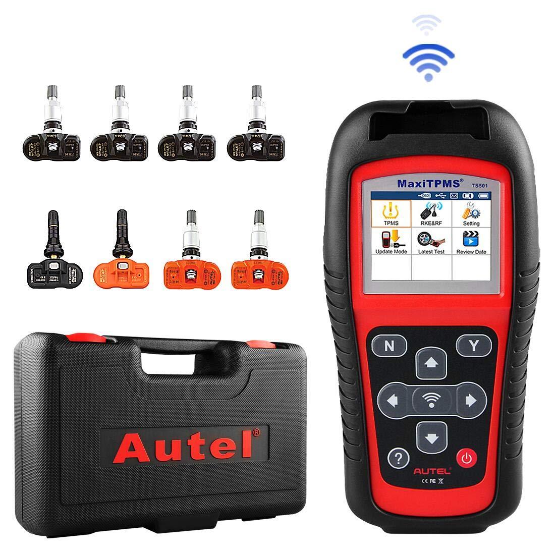 Autel MaxiTPMS TS501 TPMS OBD2 Activation Magnetic Tire Pressure Monitor System Diagnostic Tool with 5 pics 315MHz MX-Sensor and 3 pics 433MHz MX-Sensor by Autel