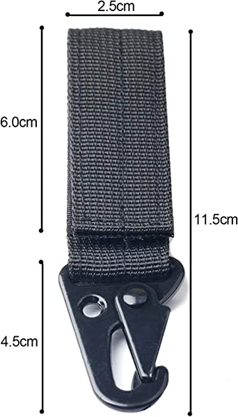 1x Nylon Keychain Clasp Tactical Carabiner Belts Clips Webbing Hook Bag J8C5