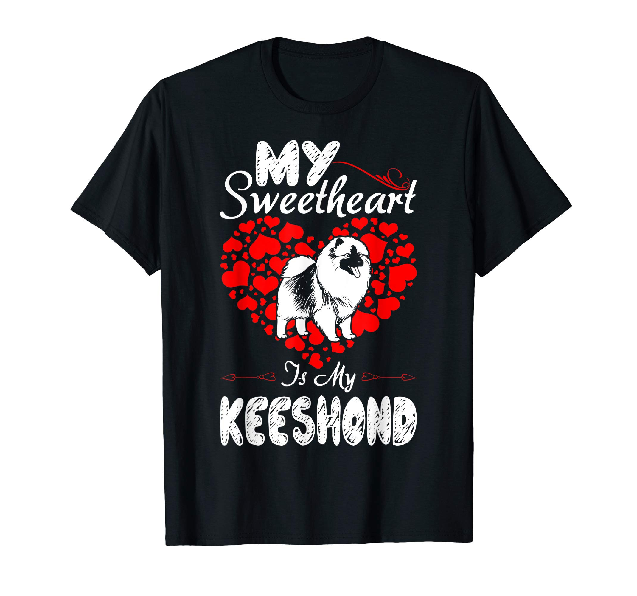 My Sweetheart Is My Keeshond Valentine Gift T-Shirt 1