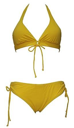 8fece53645638 Tamari Beachwear Yellow Bikini Set For Women