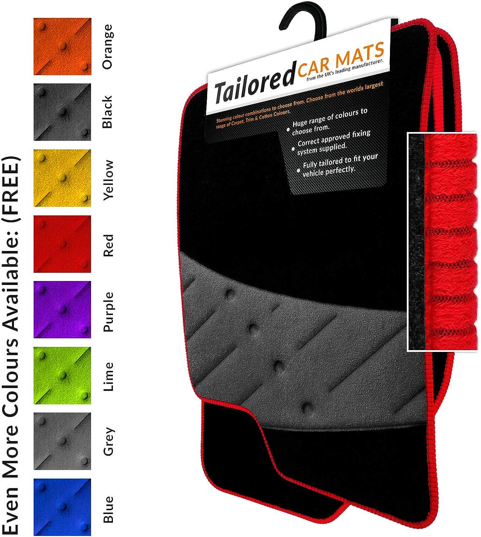 Black Heel Pad 2161 Black Carpet Red Trim Car Mats to fit 3008 2017+ Ultra Durable Full Width Heel Pad