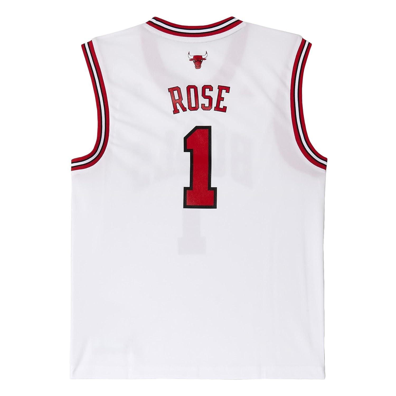 Adidas NBA Chicago Bulls Replica Basketball Trikot 1 Rose Weiß, L ...