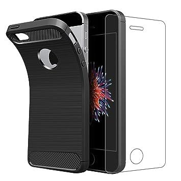 iPhone se funda con Protector de pantalla de cristal ...