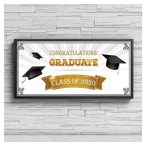 2021 Personalize Banner Graduation Graduation Sign Class of 2021 Congratulations Graduation Banner 2021 College Graduation Banner