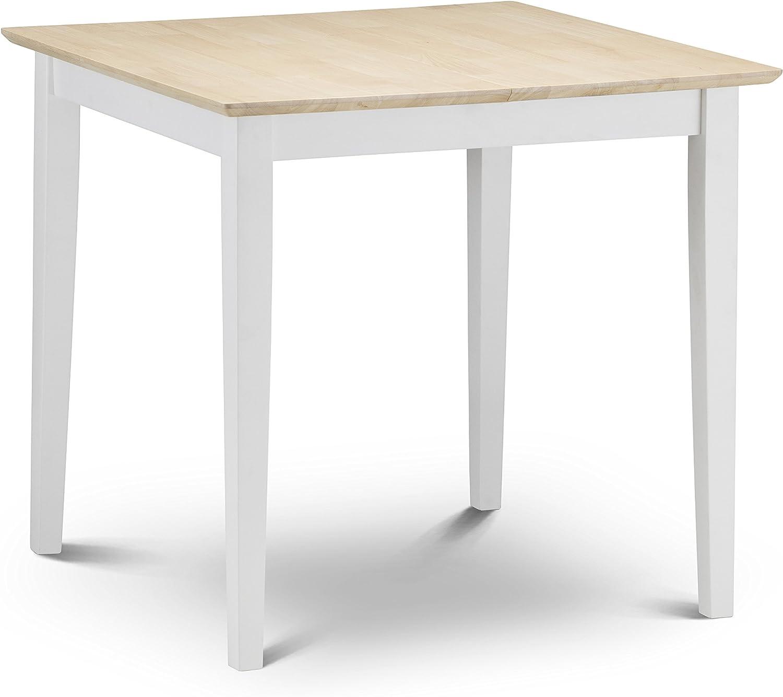 Julian Bowen Rufford – Mesa de comedor plegable, marfil/Natural Lacado, 80 x 80 x 75 cm: Amazon.es: Hogar
