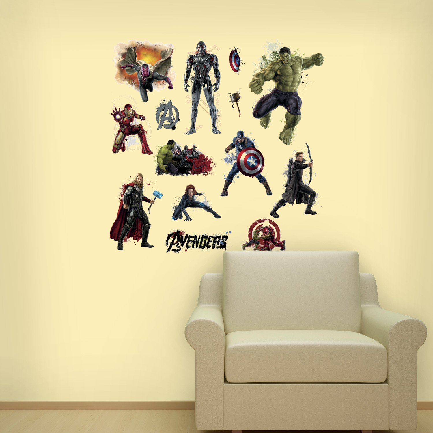 Asian Paints Nilaya Avengers Age of Ultron Peel and Stick Wall ...
