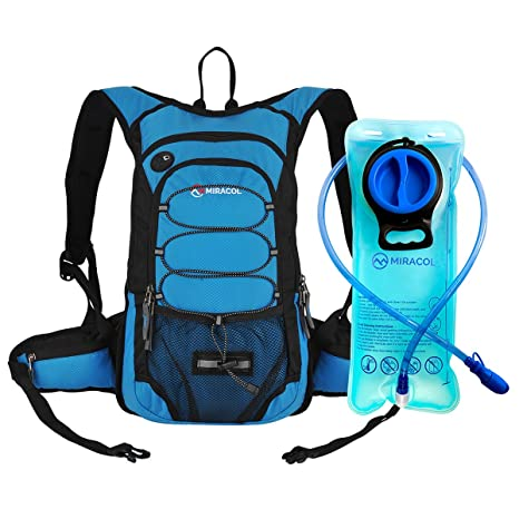 MIRACOL Hydration Backpack With 2L Water Bladder Thermal Insulation Pack Keeps Liquid Cool Up To