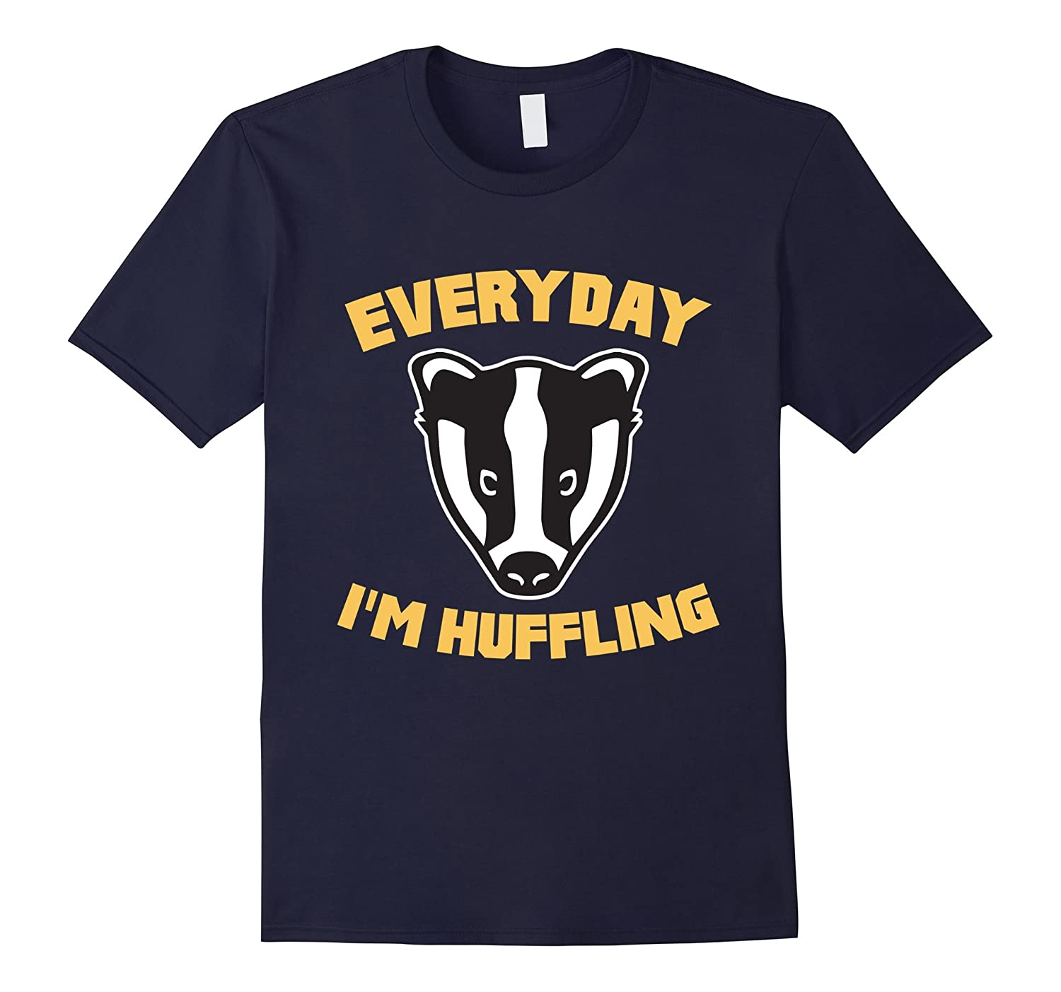 Everyday I'm Huffling Huffle Badger Cute Funny Animal Graphic T-Shirt-BN