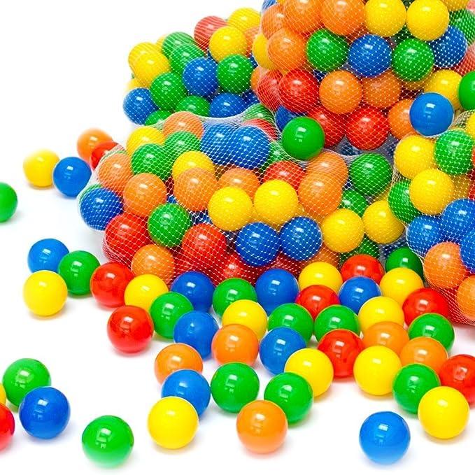 LittleTom 50 pcs 5,5 cm Bolas Marinas Juguete de los Niños Pelotas de Colores para Piscina Bolas de Plástico en Parque Infantil Regalo para Niños Bebé: ...