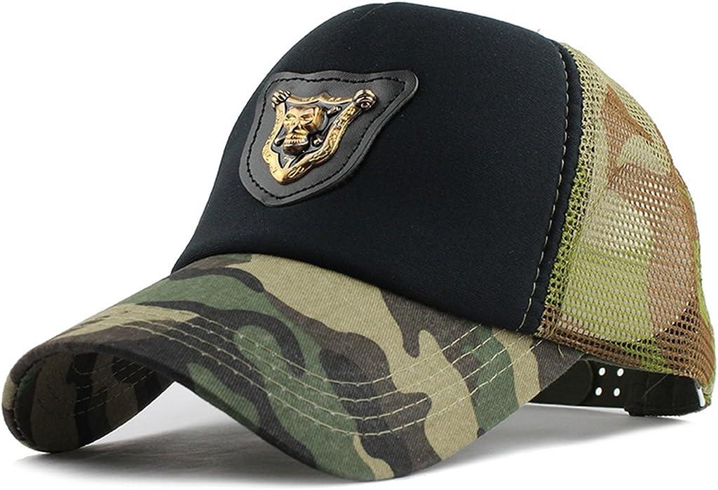 e8126111965 Casual Skull Baseball Cap Dad Hat Trucker mesh Cap Sports Beach Summer  Fashion Hat for Women