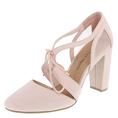 01d326de2fb0 Christian Siriano for Payless Women s Light Pink Suede Kami Ghillie Block  Heel 7.5 Wide