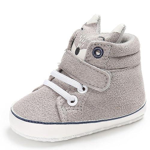 8c0907edb824e7 Heligen Baby Mädchen Jungen Fuchs Lauflernschuhe Rutschfest Canvas Schuhe  Stiefel Fox High Cut Schuhe Sneaker Anti
