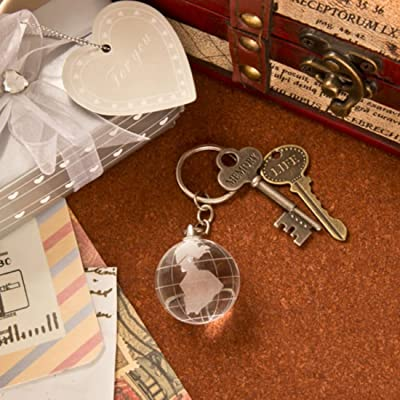 Fashion Craft 2275 Choice Collection Crystal Glass Globe with Key Chain, White: Home & Kitchen