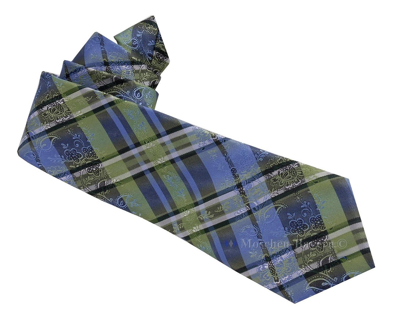 Edle Trachtenkrawatte Herren - 100 % Seide - Blau/Violett
