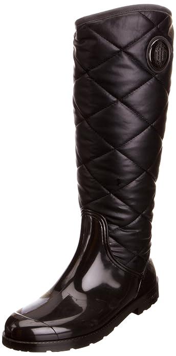 34d86df3c84d Tommy Hilfiger Women s Oxford 3 Black Wellingtons Boots FW56814795 8 ...