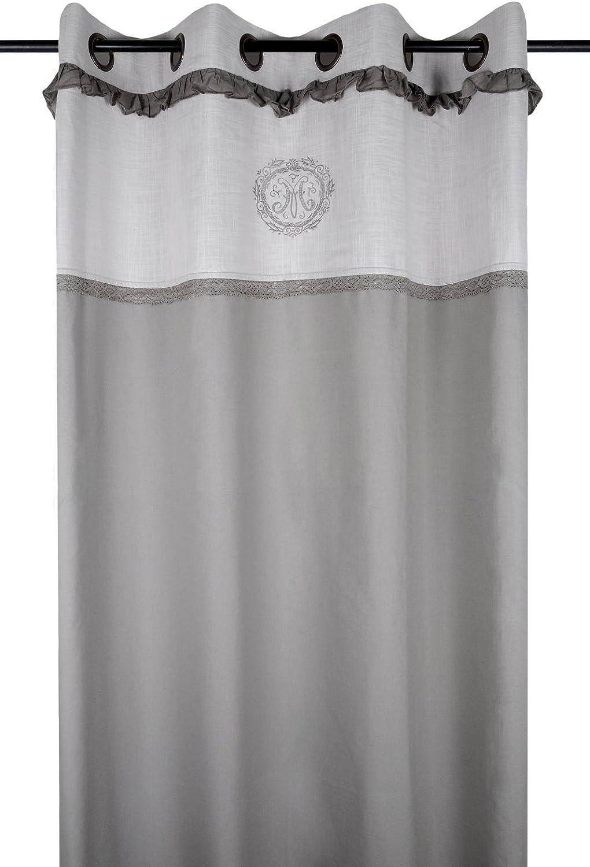 Lovely Casa Marie Cortina, algodón, Gris, 140 x 260 cm: Amazon.es: Hogar