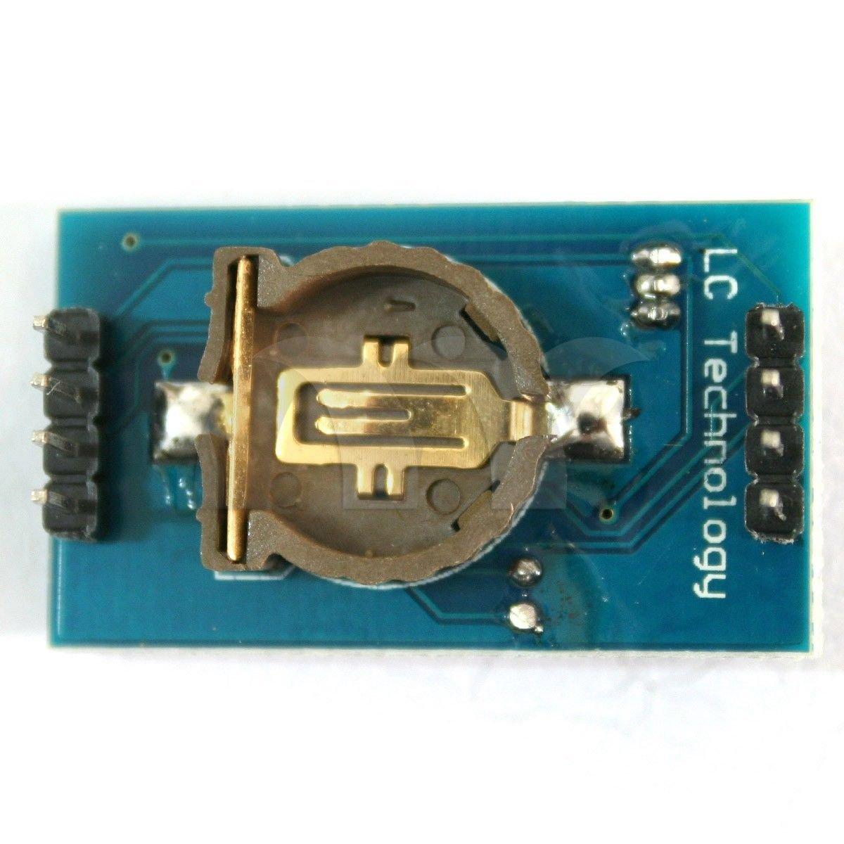 2 pcs DS1307+AT24C128+DS18B20 digital temperature sensor Triad Clock Module M35
