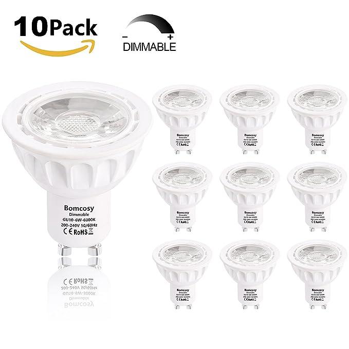 11 opinioni per Bomcosy Dimmerabile Lampadina LED GU10 6W Equivalenti a 50W Alogene Luce Bianco