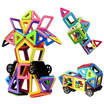 Magnetic Building Blocks Innoo Tech Tiles 76 1 Pieces Shapes