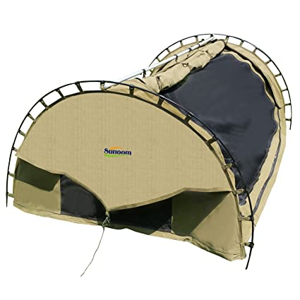 outlet store 4aa50 658f8 Amazon.com: SUNOOM Double Canvas Swag Tent with Fire ...