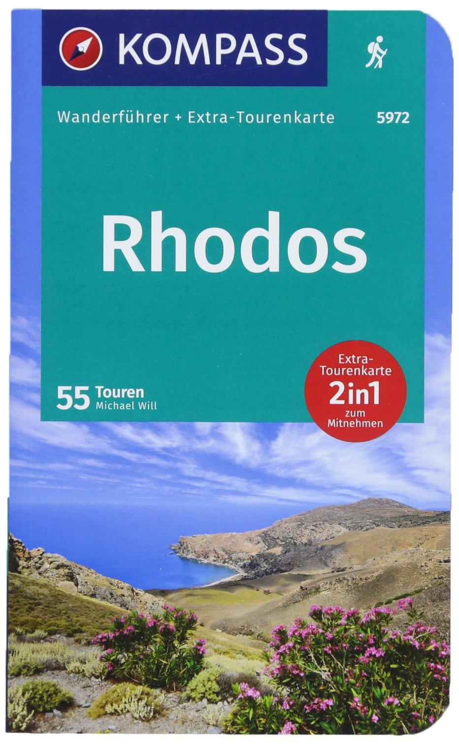 Rhodos: Wanderführer mit Extra-Tourenkarte 1:55000, 55 Touren, GPX-Daten zum Download. (KOMPASS-Wanderführer, Band 5972)