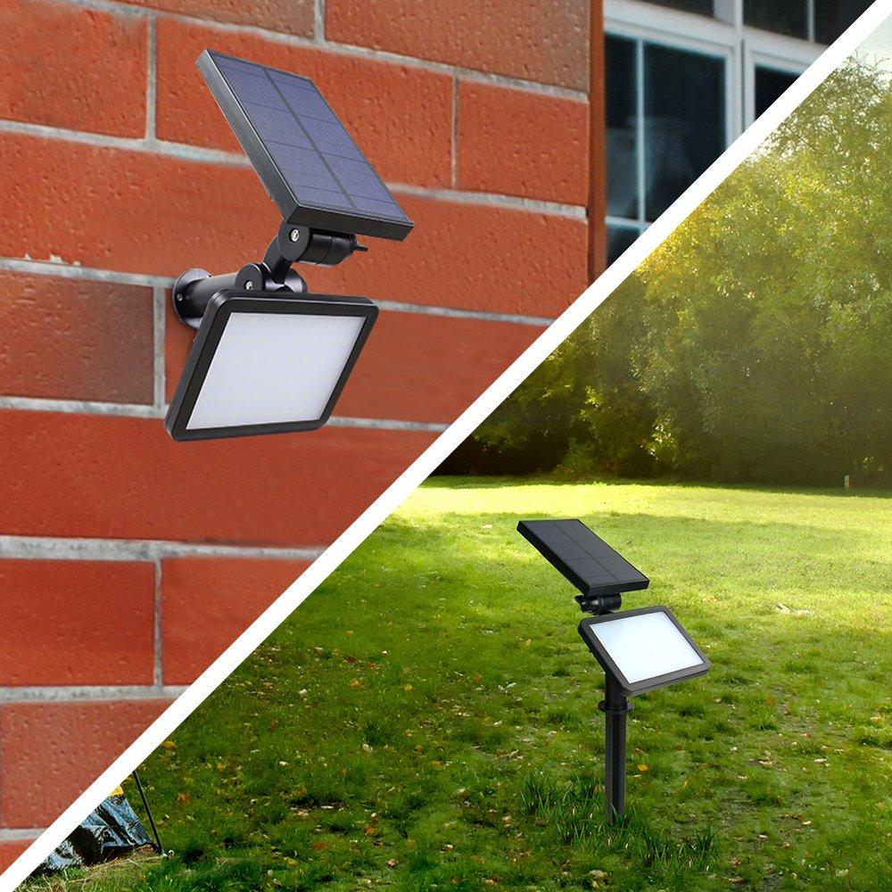 Yiwa 48 PCs LEDs Solar Light Lamp Light Control Night Wall Light Sensor Outdoor Lighting Lamp for Lawn Garden