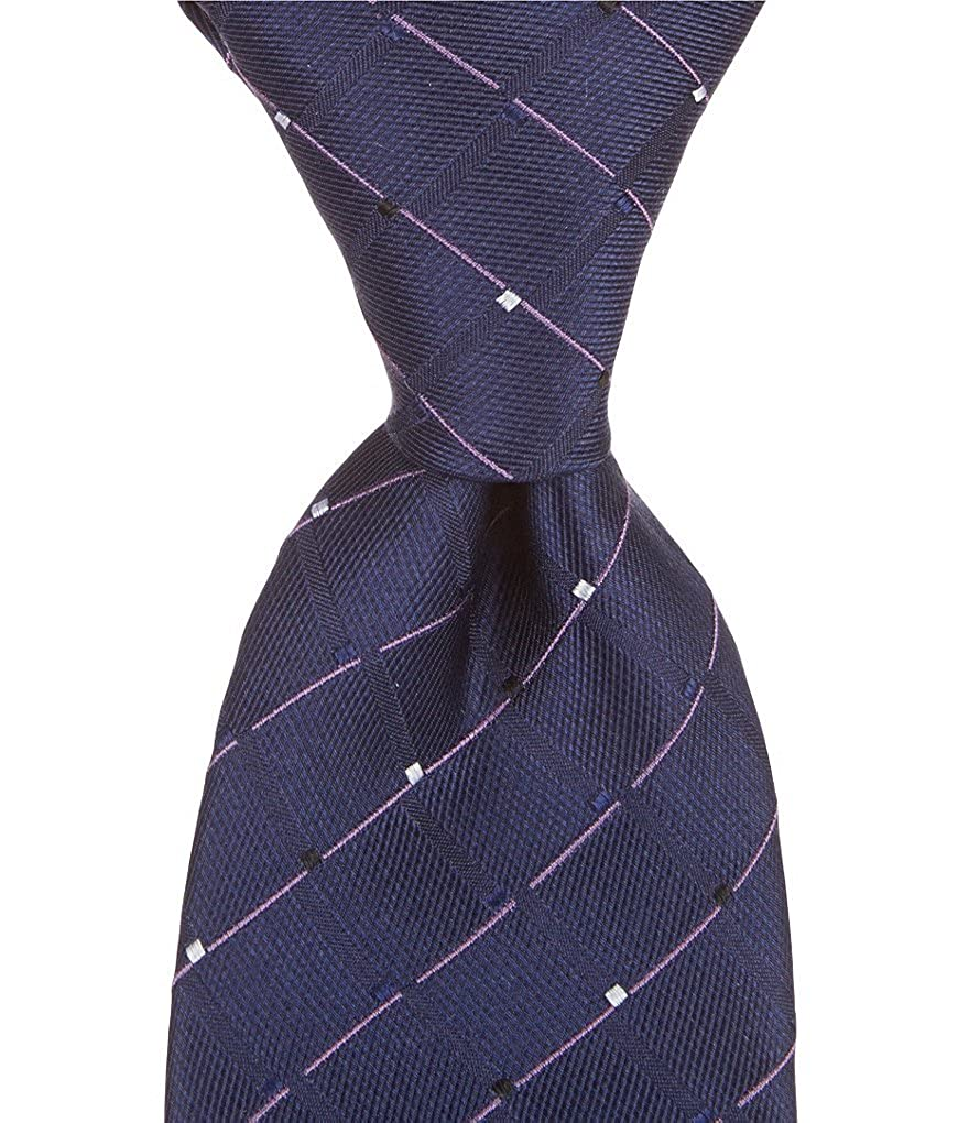 Murano Fake Grid Traditional Silk Tie