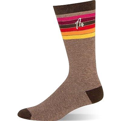 Argoz Mens Driftwood Brown Striped Sock at Men's Clothing store