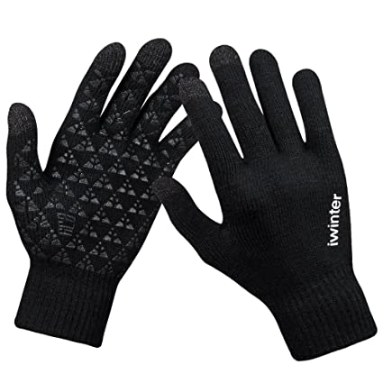4ede1ad83a501 Amazon.com  anqier Winter Knit Gloves