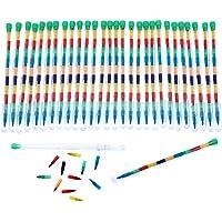 JZK 30 x Veelkleurig kleurpotloden stapelen potlood pop kleurpotloden voor kinderen kinderen feestartikelen feesttas…