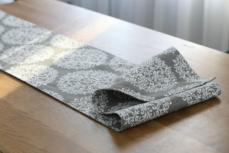 IBWell 素朴なカントリースタイルシリーズ テーブルランナー ドレッサー スカーフ 布カバー ウェディングパーティー ディナーデコレーション 素朴なデザインのテーブルランナー 12 x 78 inch ホワイト 12 x 78 inch ホワイト フラワー B07GGVC1XP