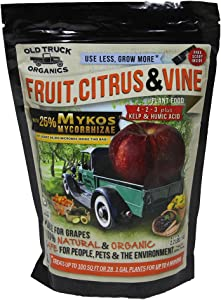 Fruit, Citrus & Vine 4-2-3 Organic Fertilizer with MYKOS Mycorrhizae, 2.2 Pound Bag