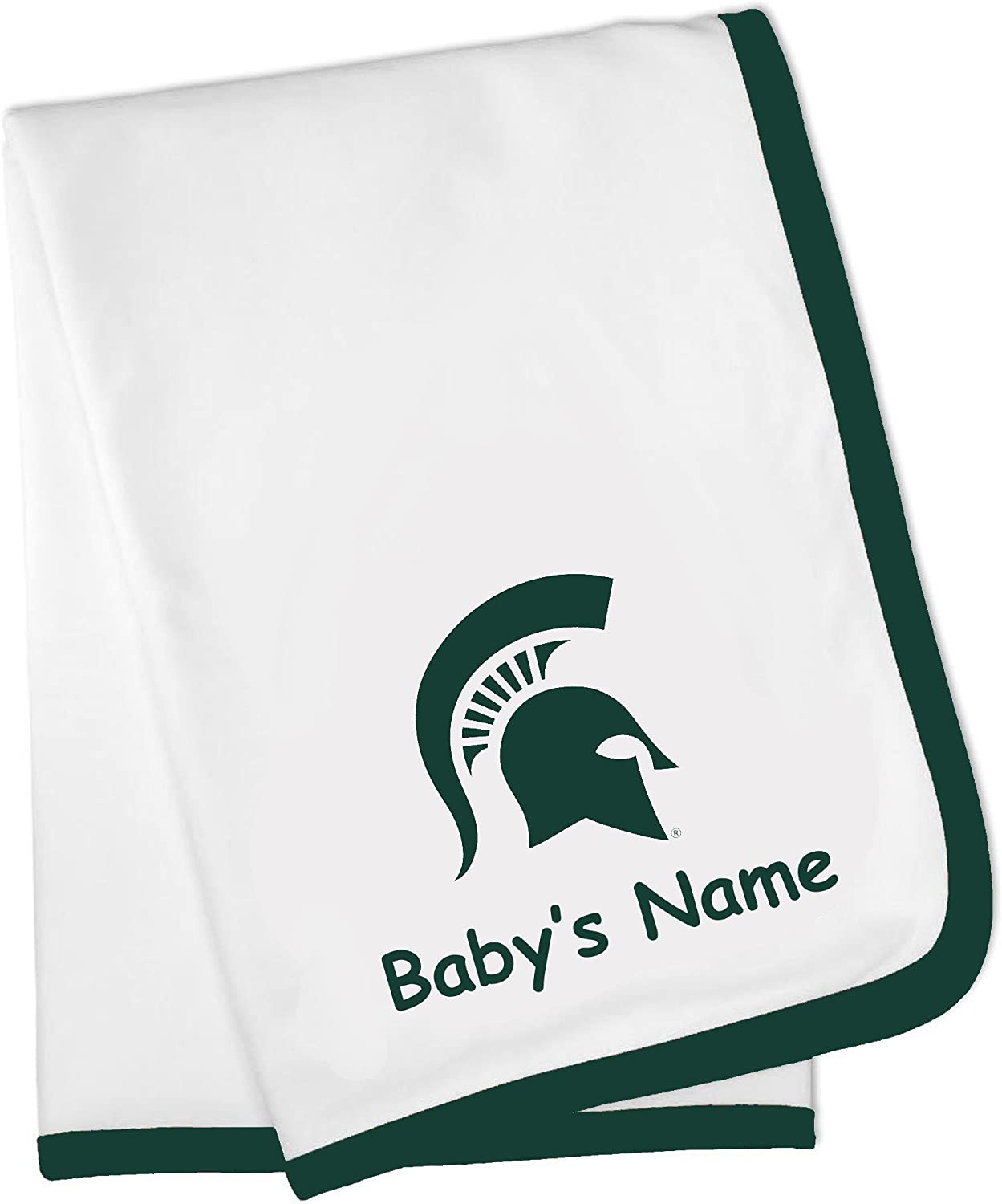 Future Tailgater Michigan State Spartan Custom Personalized Baby Blanket