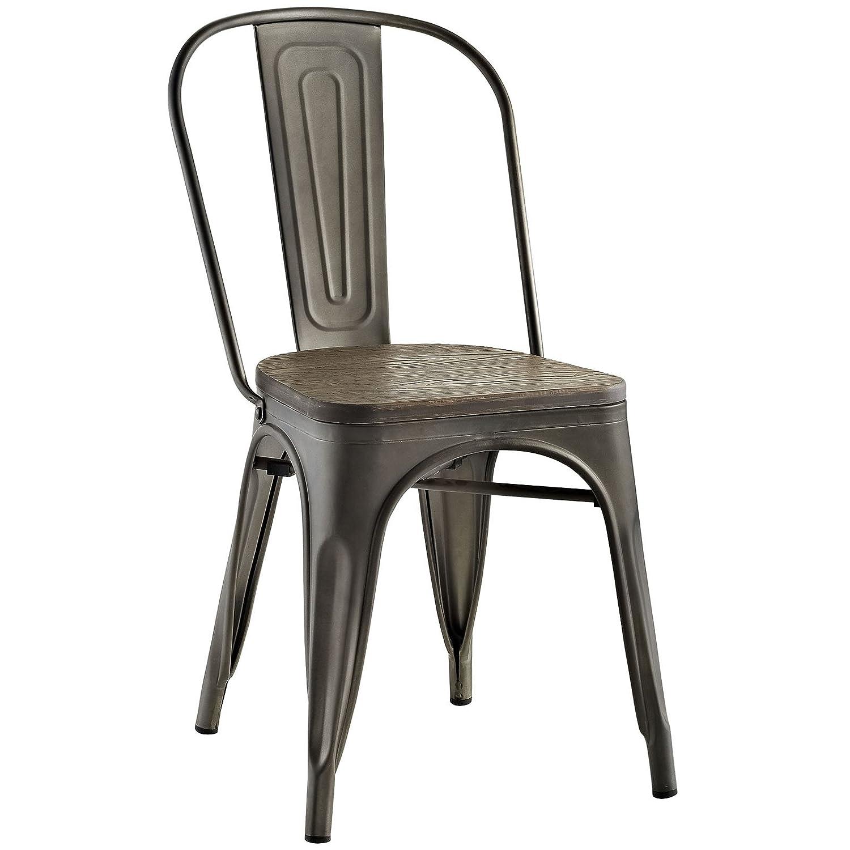 Modway Promenade Bamboo Side Chair in Black LexMod EEI-2028-BLK