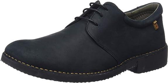 El Naturalista Ng26 Pleasant Black/Yugen, Zapatos de Cordones Derby para Hombre