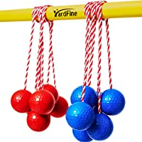 YardFine Ladder Ball Replacement for Ladder Ball Toss Match Quality Step Ball Replacement for Golf Game Set Ladder Ball Bolas 6pack